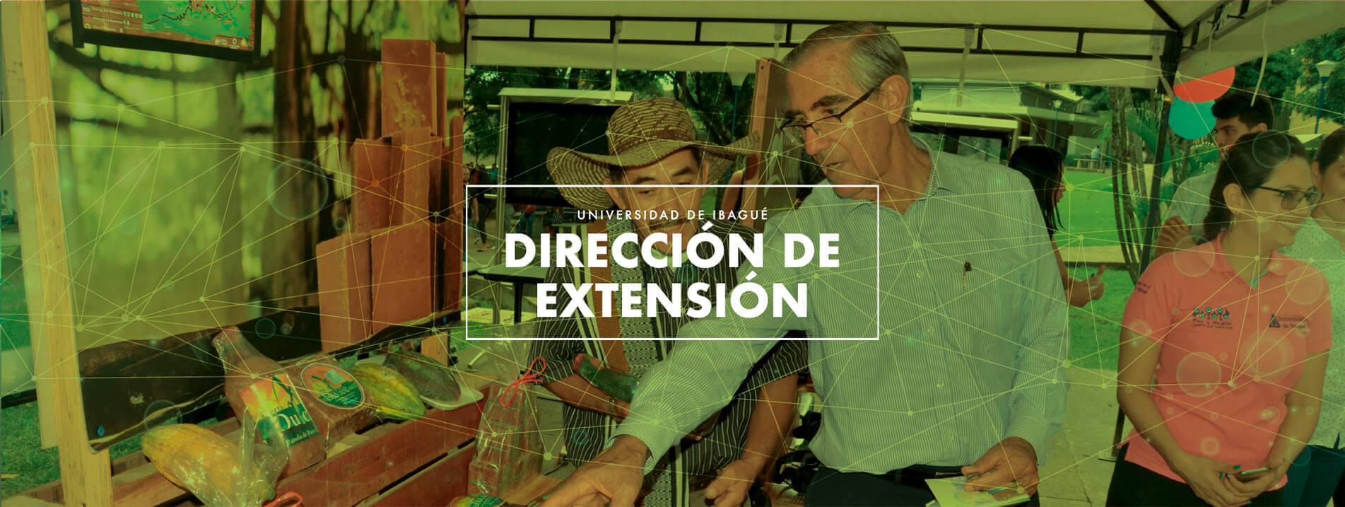 Imagen de cabecera para el micrositio de la dependencia de Dirección de Extensión de Unibagué